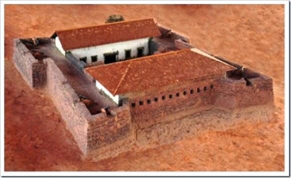 Forte de São Joaquim do Rio Branco, ricostruzione, fonte: folhabv.com.br