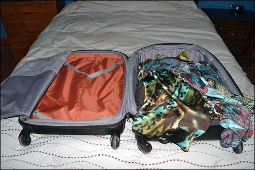 starting to pack