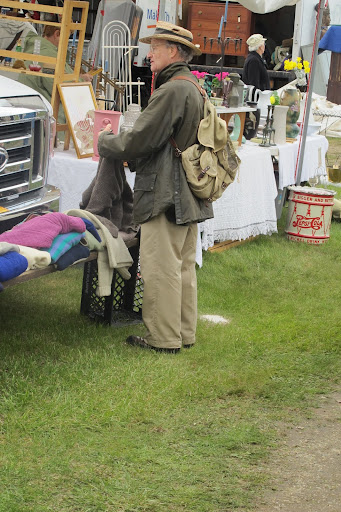 Another dapper Brimfield shopper.