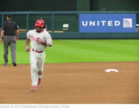 'Jimmy Rollins rounding the bases after hitting his second Home Run of the night' photo (c) 2012, Matthew Straubmuller - license: https://creativecommons.org/licenses/by/2.0/