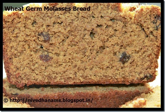Wheat Germ and Molasses Bread - IMG_3469