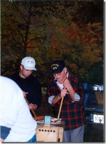 My grandfather, helping press apples for apple cider, 1992