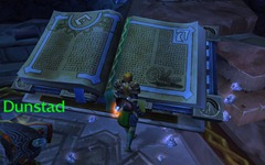 old ironforge book with runes