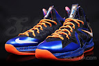 nike lebron 10 ps elite blue black 1 08 Release Reminder: Nike LeBron X P.S. Elite Superhero