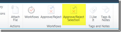 Approve/Reject Multiple Items of List in SharePoint 2010