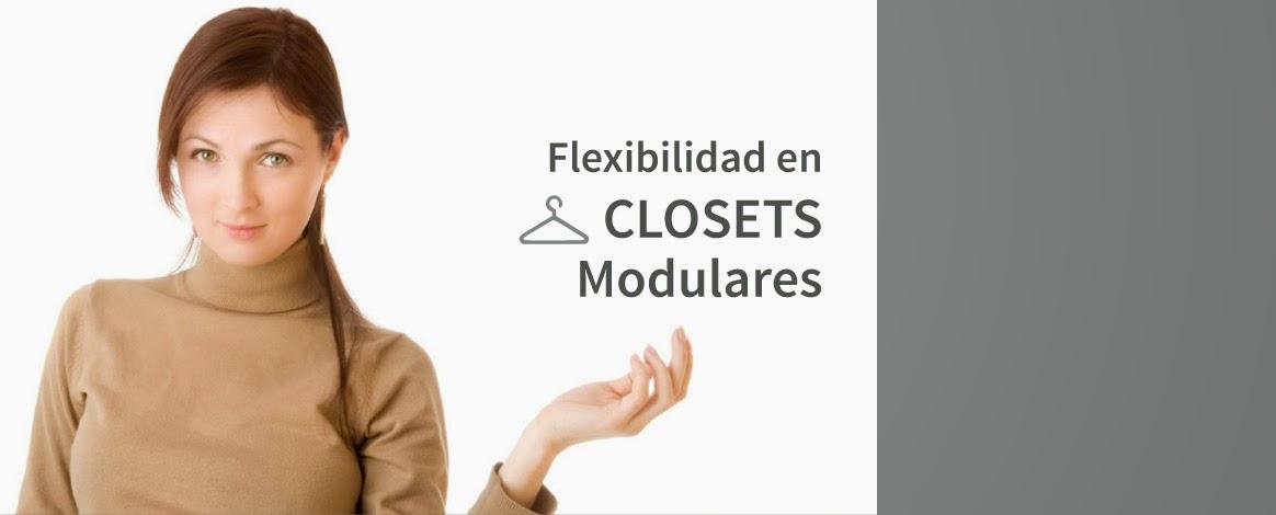 flexibilidad en closets modulares