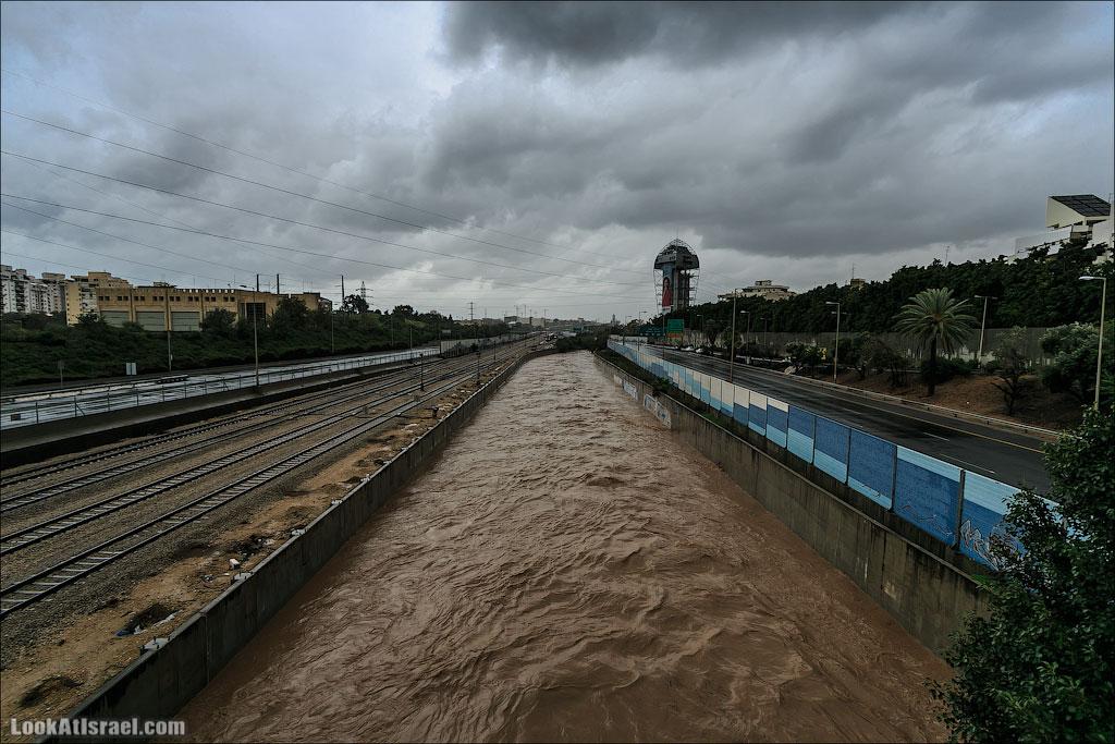 Сказ о том как одна маленькая, но гордая речка парализовала половину Израиля и весь Тель Авив (foto israel  фото тель авив и интересно и полезно дождь и снег  20130108 ta ayalon river 007 5D3 5626)