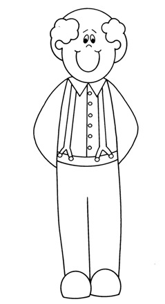 grandfather coloring pages