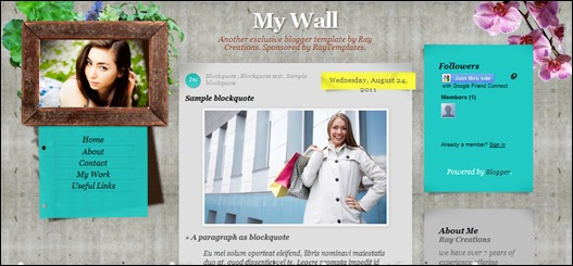 My Wall Blogger Template