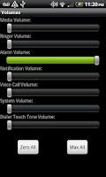 Screenshot of Volumes