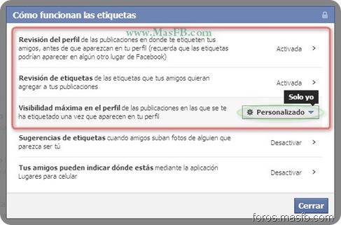 Configuración de Etiquetas Facebook