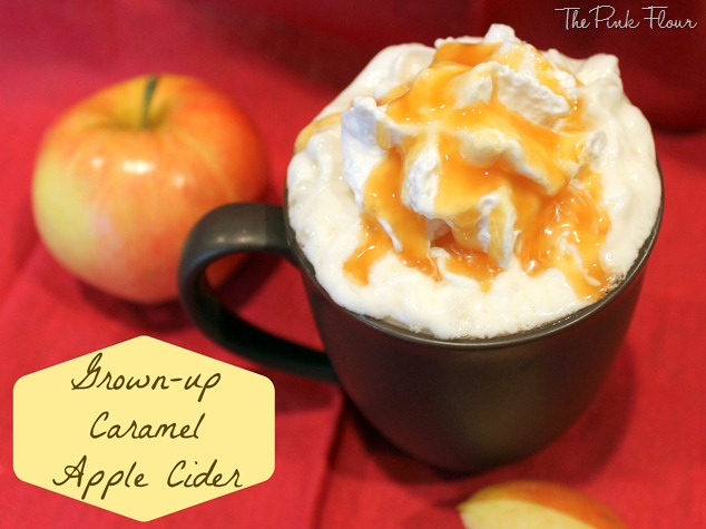 Grown-up Caramel Apple Cider from the Pink Flour