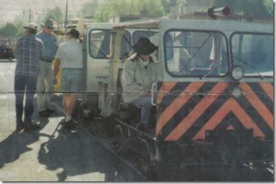 Motorcars on the Portland & Western Railroad in Rainier, Oregon in 1998