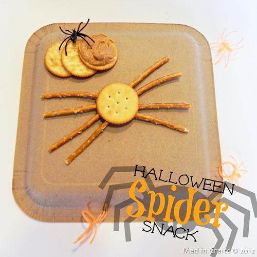 Easy Halloween Spider Snack