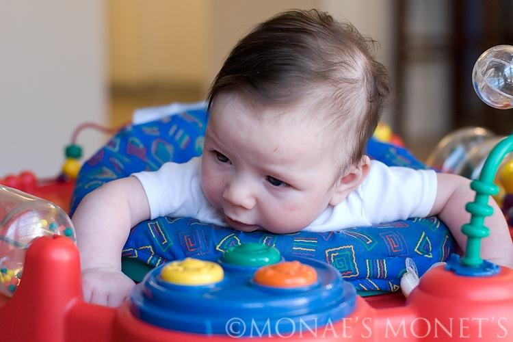 Ryan staring at toy blog