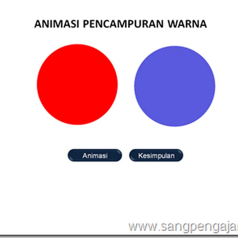 Membuat Animasi Pencampuran Warna dengan Powerpoint