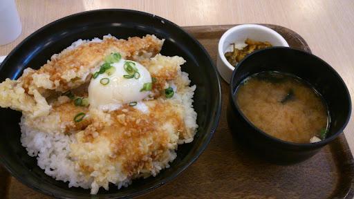 [写真]海老名SAで鶏天親子丼