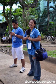 Davao Bloggers officers Olan Emboscado and Leah Valle