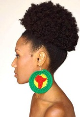 The classic natural hair puff
