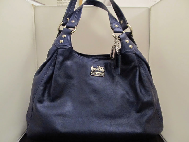 Coach Metallic Blue Handbag
