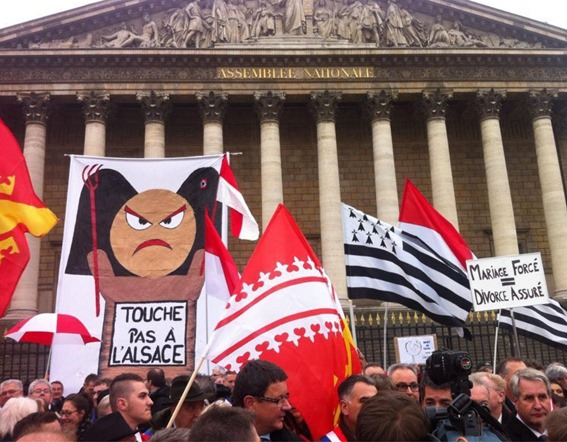 manifestacion dels Alsacians a Paris 25112014