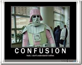 Confused Darth Vader