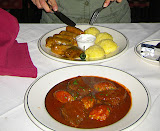 Traditional Romanian food at Dunarea Restaurant in Anaheim, CA (I didn't like the restaurant but the food was very good)