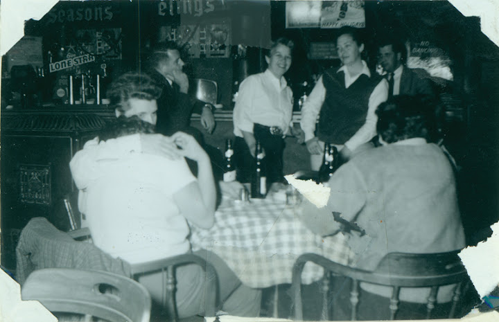 Dottie Frank (center) with others at Acme Bar. Circa 1961