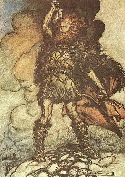 Thor en una ilustración del siglo XIX