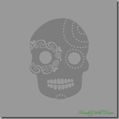 Grey Skull Flourish 4