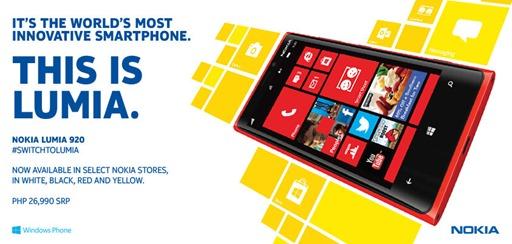 Nokia Lumia 920 Philippines Price