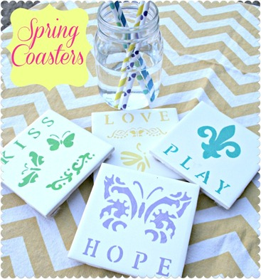 Spring Coasters by The Johanson Journey