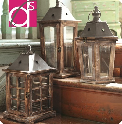 pottery barn-like lanterns