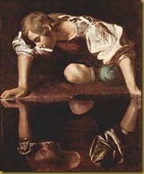 Painting of Narcissus by Caravaggio