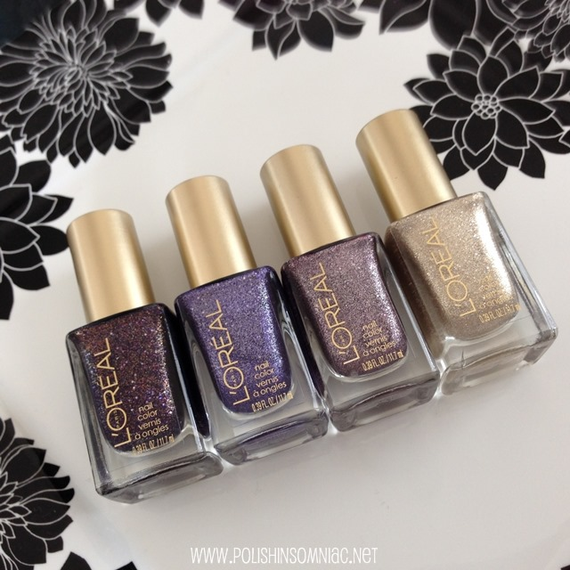 L'Oreal Colour Riche Gold Dust Nail Polishes.  I found them in the permanent display! #WalgreensBeauty #CollectiveBias #shop