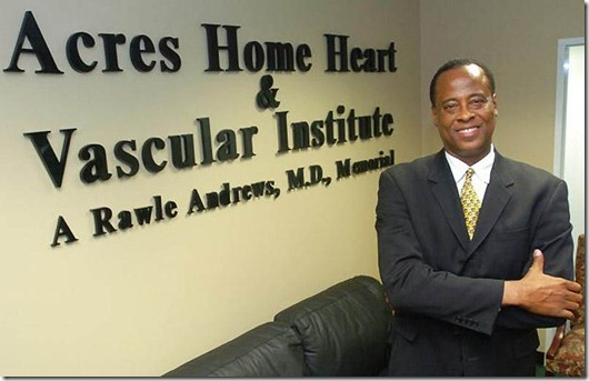 Conrad Murray...In this July 7, 2006 photo, Dr. Conrad Murray poses for a photo as he opens the Acres Homes Cardiovascular Center at the Tidwell Professional Building, in Houston. A woman who answered the phone Friday, June 26, 2009, at Dr. Conrad C. Murray's clinic in Houston confirmed to The Associated Press that Murray was Michael Jackson's cardiologist. Los Angeles police say they want to speak to the doctor but stressed he was not under criminal investigation. (AP Photo/Houston Chronicle)