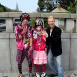 colorful cosplay kids in Harajuku wearing pink outfits in Harajuku, Tokyo, Japan