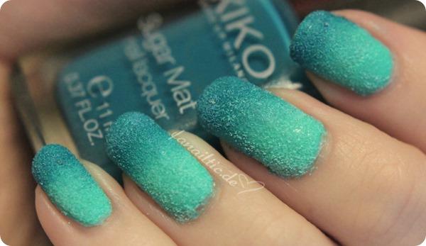 """Kiko sugar mat 636 """"mint"""" & 637 """"turquoise"""" gradient"""