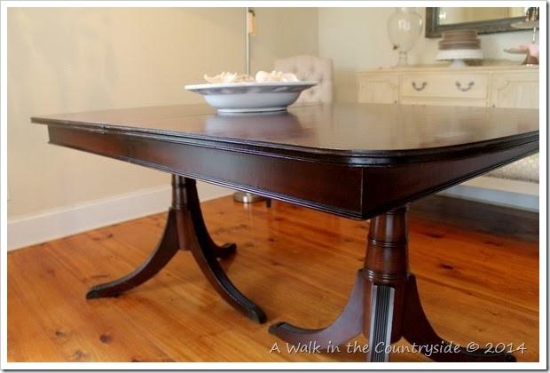 mahagony duncan phyfe style dining table