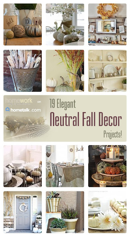 Neutral Fall Decor Curated Board via homework on Hometalk