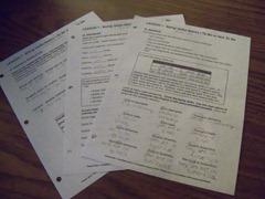 Visual Latin Worksheets