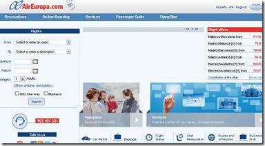 air europa cotiza en linea reservaciones servicios vuelos baratos