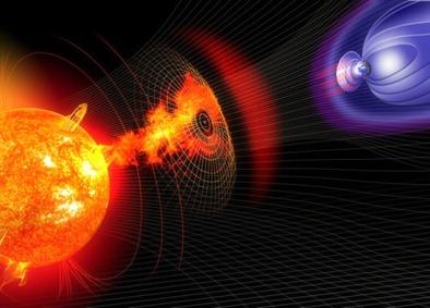 ilustração da ejeção de massa coronal