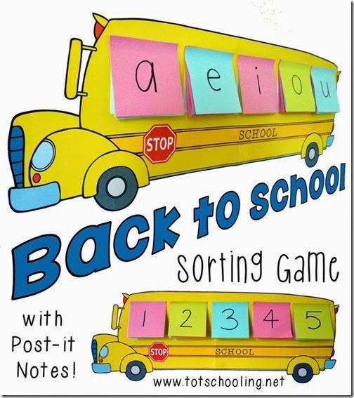 Preschool Alphabet Letter Bus Sorting Game #preschool #education #alphabet