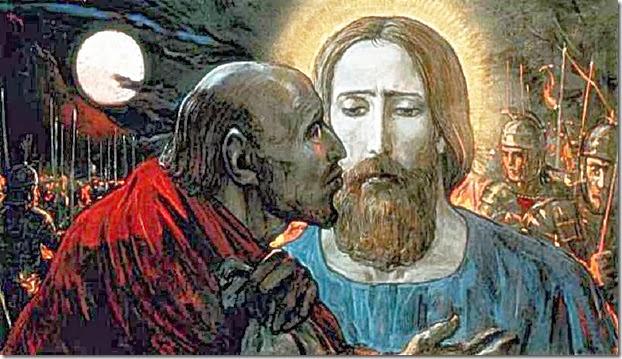 Judas kisses Jesus 4. Ari McHenry and Jabari McHenry