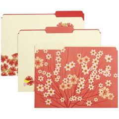 Japanese-inspired blossom file folders