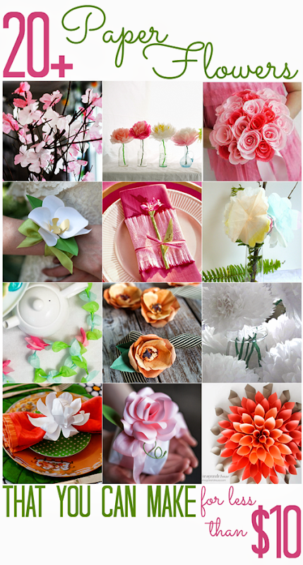 20  Paper Flowers (that you can make for less than $10) - All Cheap Crafts
