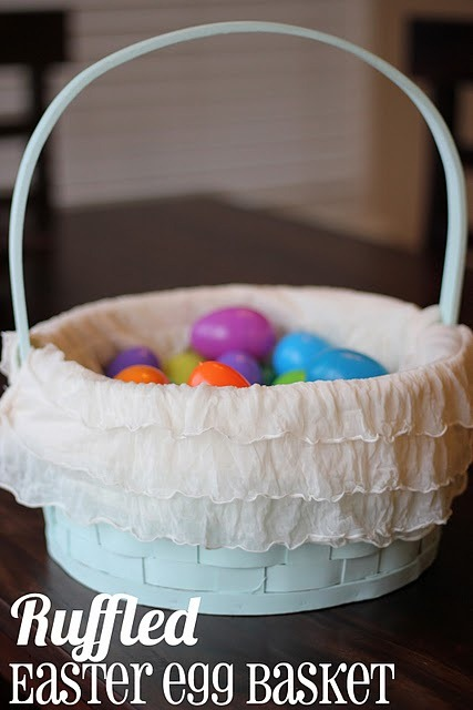 ruffled easter basket tutorial