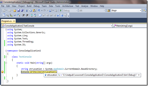 Application path in Console application