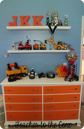 Clean out your kids room and display the toys they play with.